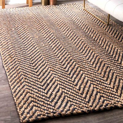 Allemans Hand-Woven Navy Area Rug Rug Size: Rectangle 76 x 96