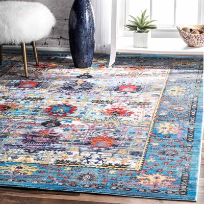 Arnots Blue Area Rug Rug Size: Rectangle 9 x 12