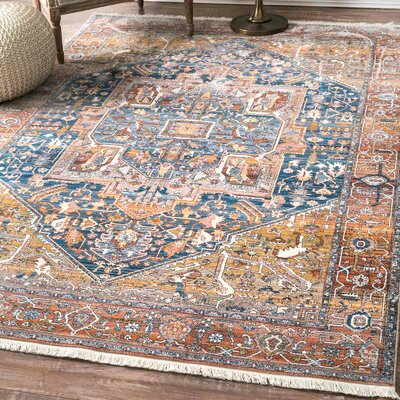 Artemas Rust Area Rug Rug Size: Rectangle 9 x 12