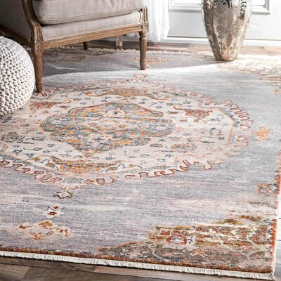 Arvizu Gray Area Rug Rug Size: Rectangle 9 x 12