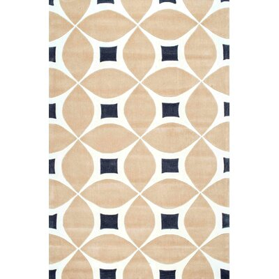Alastair Hand-Tufted Beige Area Rug Rug Size: 7'6