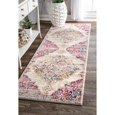 Cateline Pink Area Rug Rug Size: Runner 28 x 8