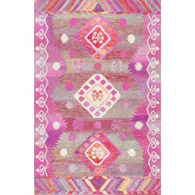 Kermit Hand-Tufted Pink Area Rug Rug Size: Rectangle 4 x 6