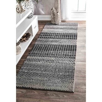 Patel Dark Gray Area Rug Rug Size: Runner 28 x 8