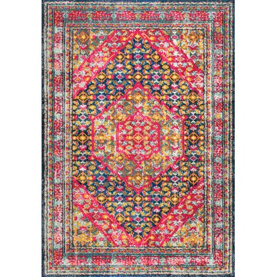 Barnes Pink Area Rug Rug Size: Rectangle 53 x 77