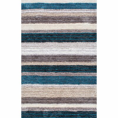 Weeden Hand-Tufted Blue/Brown Area Rug Rug Size: Rectangle 4 x 6