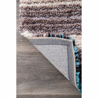 Weeden Hand-Tufted Blue/Brown Area Rug Rug Size: Round 8