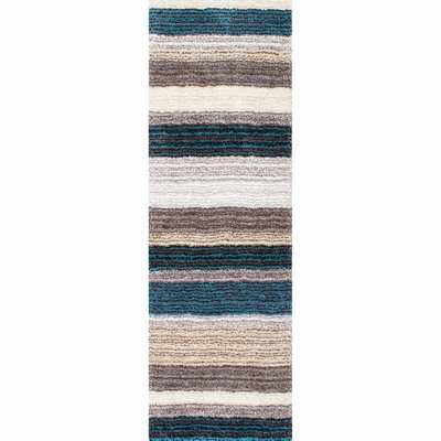 Weeden Hand-Tufted Blue/Brown Area Rug Rug Size: Runner 26 x 8