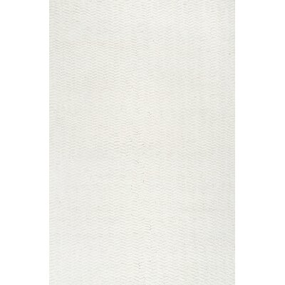 Lockhart Hand-Woven Ivory Area Rug Rug Size: 76 x 96