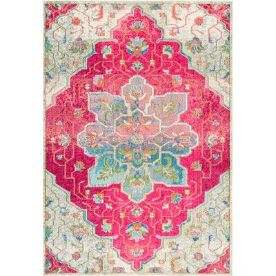 Maricopa Pink/Blue Area Rug Rug Size: 53 x 77