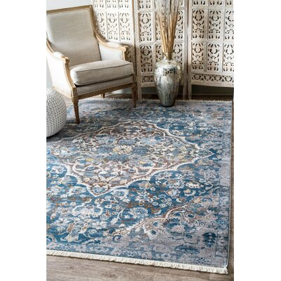 Ryane Blue/Gray Area Rug Rug Size: Rectangle 8' x 10'