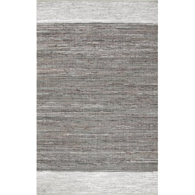 Emrich Hand-Woven Gray Area Rug Rug Size: 7'6