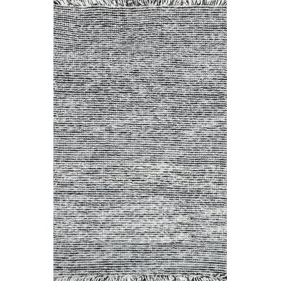 Niraj Hand-Woven Wool Silver Area Rug Rug Size: 5 x 8