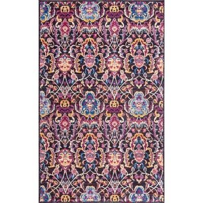 Maynard Blue/Pink Area Rug Rug Size: 5 x 8