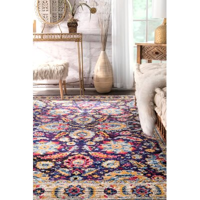 Maximilian Navy Area Rug Rug Size: Rectangle 76 x 96