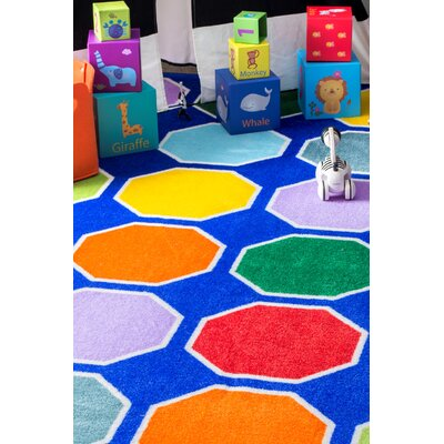 Corinne Blue Area Rug Rug Size: Rectangle 8 x 10