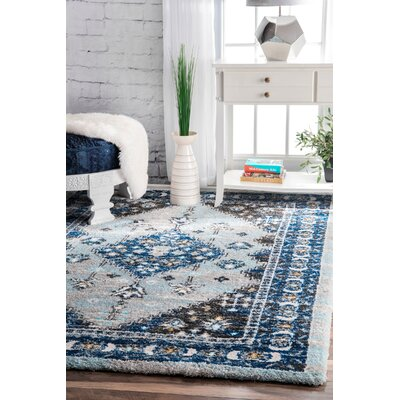 Alejo Blue Area Rug Rug Size: Rectangle 53 x 76