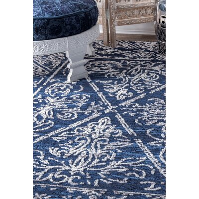 Farnsworth Blue Area Rug Rug Size: 5 x 8