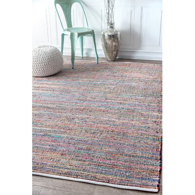 Dutton Hand Braided Ivory Area Rug Rug Size: Rectangle 76 x 96