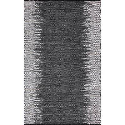 Duhon Hand-Woven Gray Area Rug Rug Size: 5 x 8