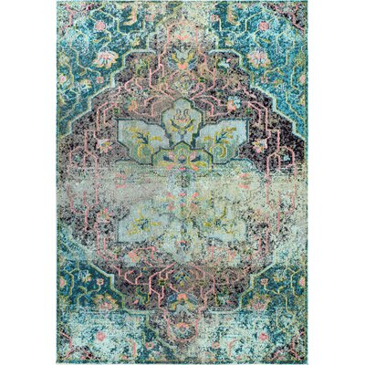 Maricela Aqua Area Rug Rug Size: Rectangle 4 x 6