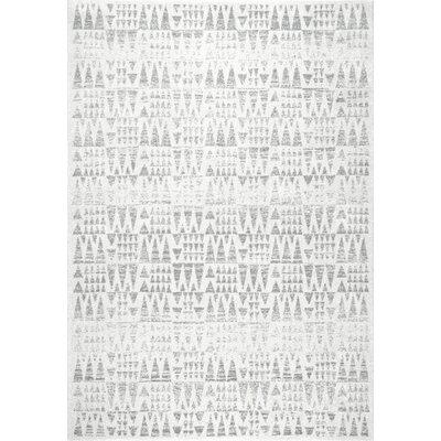 Pottorff Gray Area Rug Rug Size: 8 x 10