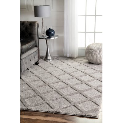 Canizales Gray Area Rug Rug Size: Rectangle 53 x 76