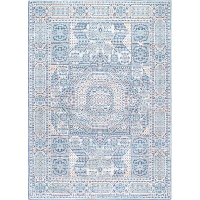 Silva Light Blue/Gray Area Rug Rug Size: Rectangle 710 x 1010