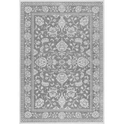 Chadbourne Dark Gray Area Rug Rug Size: 5 x 8