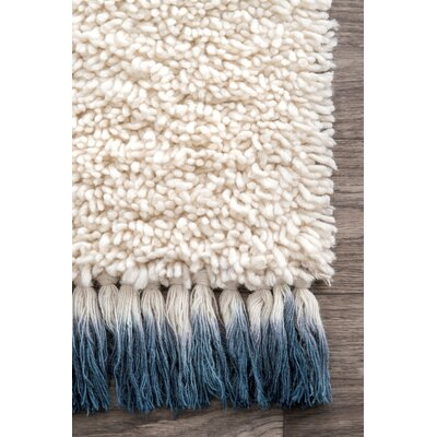 Petra Hand-Tufted Wool Ivory Area Rug Rug Size: Rectangle 5 x 8