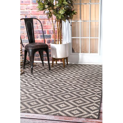 Ellman Gray/Beige Area Rug Rug Size: Rectangle 76 x 109