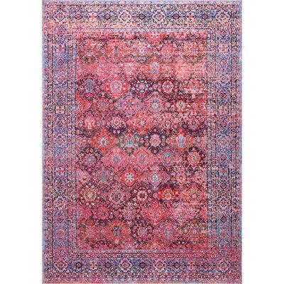 Pouliot Pink Area Rug Rug Size: 53 x 79