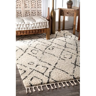 Borendy Beige Area Rug Rug Size: Rectangle 4 x 6