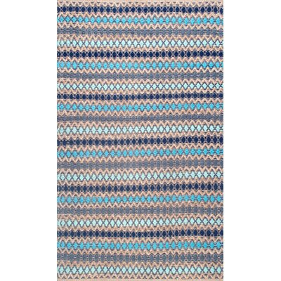 Antigua Handmade Blue Area Rug Rug Size: Rectangle 76 x 96