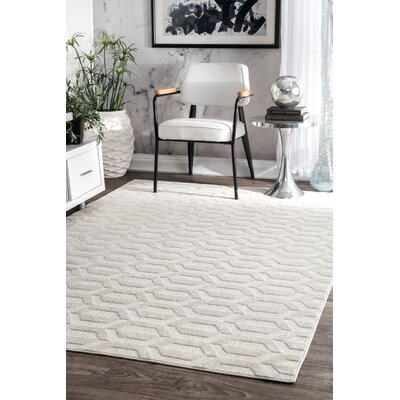 Ellerbe Ivory Area Rug Rug Size: Rectangle 76 x 96