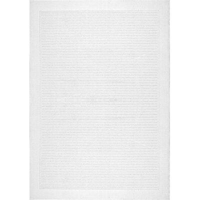 Elser White Area Rug Rug Size: 53 x 76