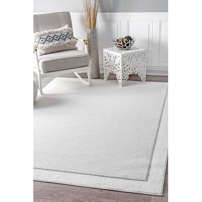 Elser White Area Rug Rug Size: Rectangle 53 x 76