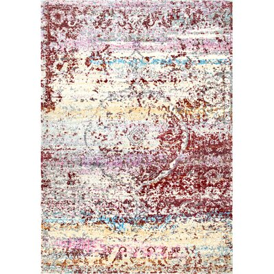 Poulos Rust Area Rug Rug Size: Runner 2 x 8