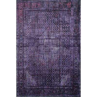 Marston Dark Purple Area Rug Rug Size: 4 x 6