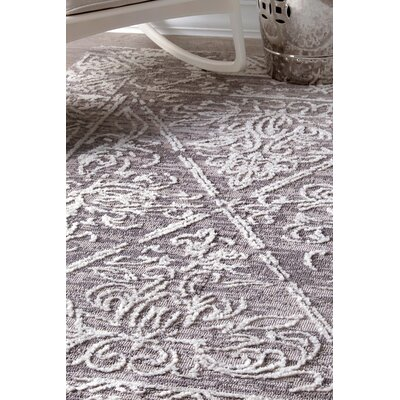 Claribel Gray Area Rug Rug Size: 76 x 96