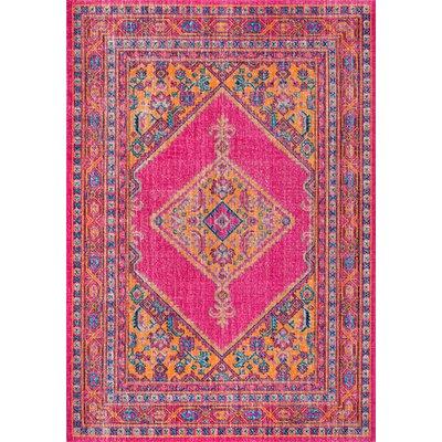 Prager Pink Area Rug Rug Size: 4 x 6