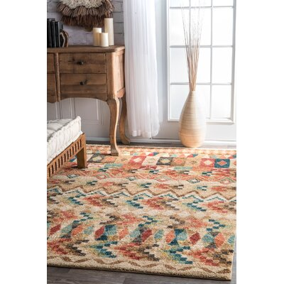 Matahpi Beige Area Rug Rug Size: Rectangle 8 x 10