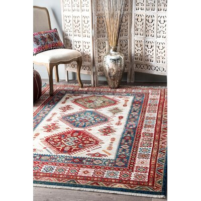 La Quinta Red/Blue Area Rug Rug Size: Rectangle 5 x 75