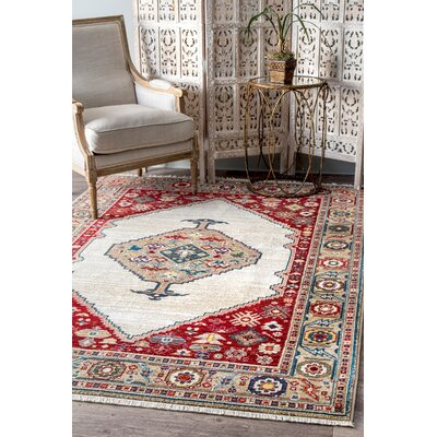 Oakland Beige Area Rug Rug Size: Rectangle 9 x 12