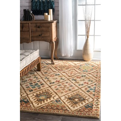 Matlacha Isles Beige Area Rug Rug Size: Rectangle 5 x 75