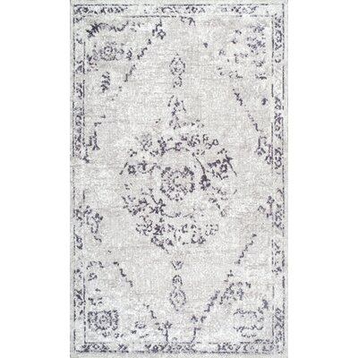 Firenze Gray Area Rug Rug Size: 76 x 96