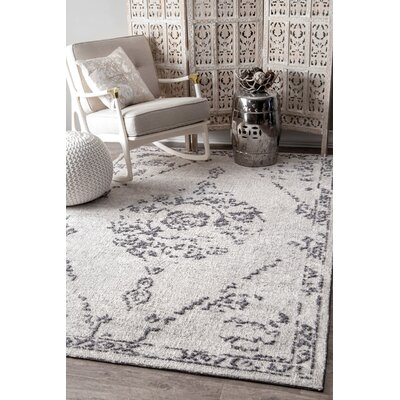 Firenze Gray Area Rug Rug Size: Rectangle 5 x 8