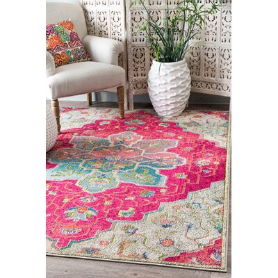 Maricopa Pink/Blue Area Rug Rug Size: Rectangle 53 x 77