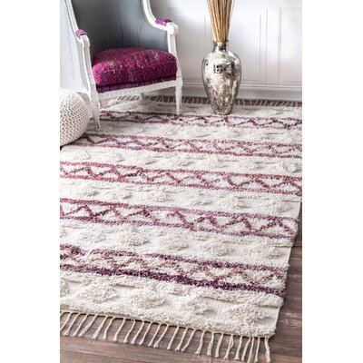 Couli Hand-Woven Ivory Area Rug Rug Size: Rectangle 5 x 8