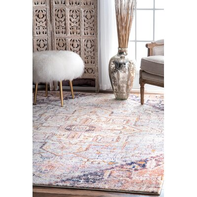 Edolie Blush Area Rug Rug Size: Rectangle 53 x 79